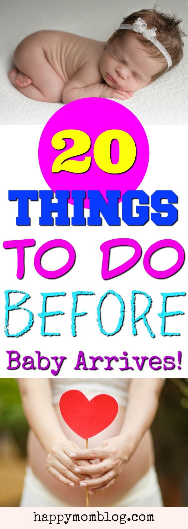 Preparing for baby. 20 things to do before baby arrives.