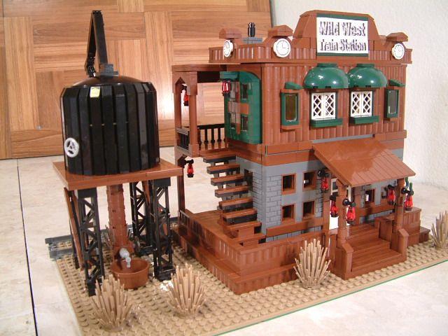 Custom Modular Lego Lone Ranger Wild West Train Station ...