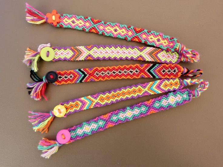 Bracelet brésilien à motif tissé en fil coton entièrement réalisé à la main : Bracelet par berenice-40