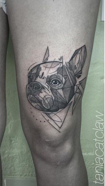 Slightly geometric by Tania Catclaw.