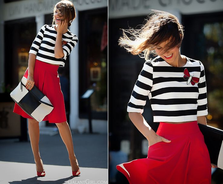 striped top outfit by GalantGirl.com