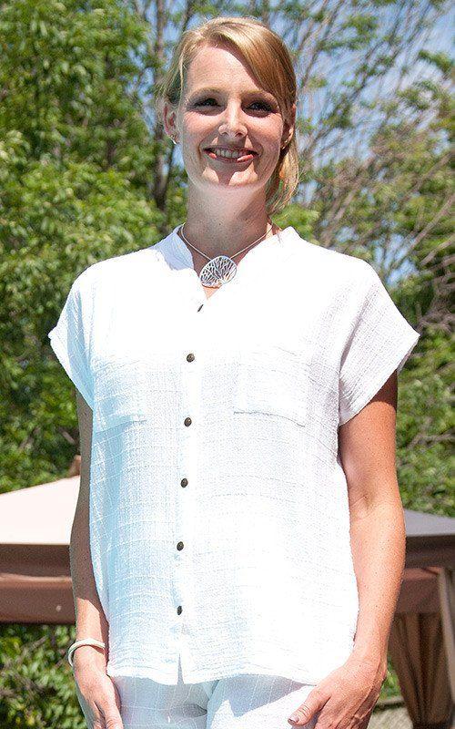 Dotty Gauze Cotton Emma Shirt by Ezze Wear