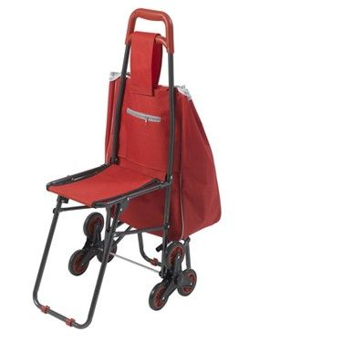 Deluxe Rolling Shopping Cart with Seat - $40