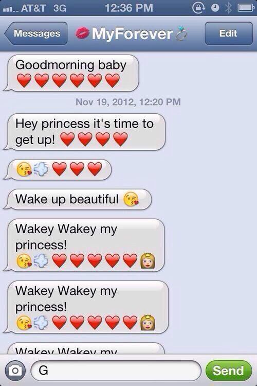 I want my boyfriend to text me this oh my it's so cute