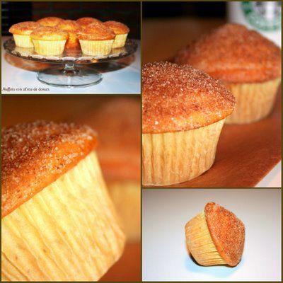 Muffins con alma de donuts