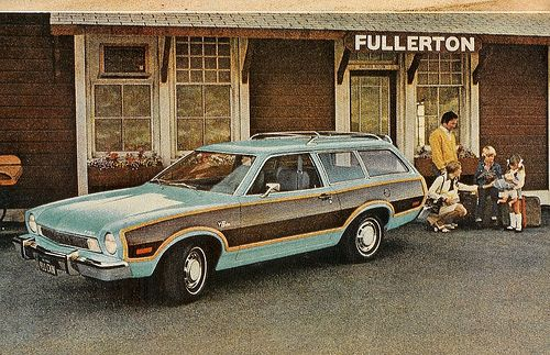 if i had to drive a station wagon it'd be this wood panel pinto.