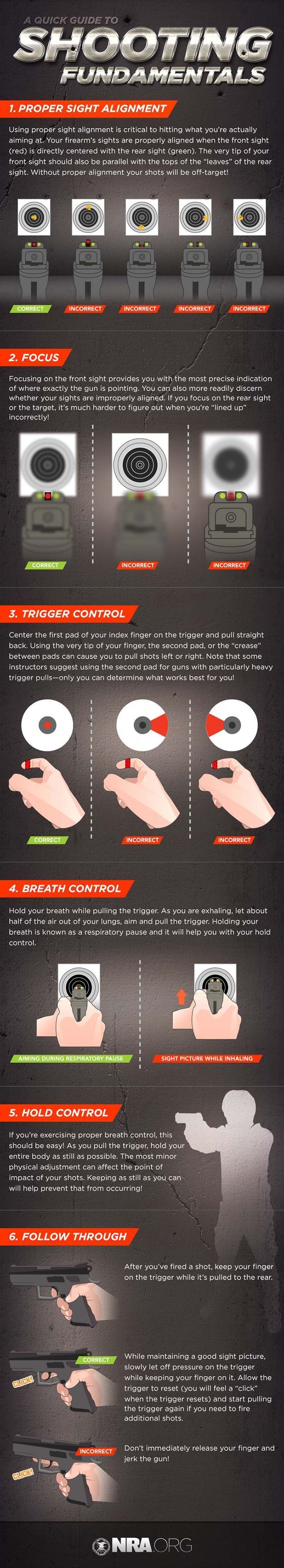 Shooting Fundamentals   Follow These Tips and Shoot Like a Pro   Skills And Techniques by Survival Life at survivallife.com/...