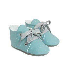 Sprinkel Blauw met witte stipjes van Studio LL - babyshoes