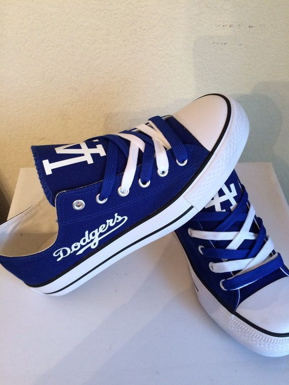 LA Dodgers unisex adults shoes by sportzshoeking on Etsy