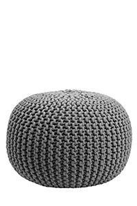 Cable Knit Weave 50x30cm Pouffe| Mrphome Online Shopping
