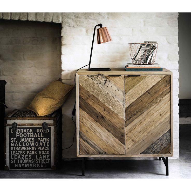 Dressoir van gerecycled grenen, breedte 80 cm Chevron   Maisons du Monde