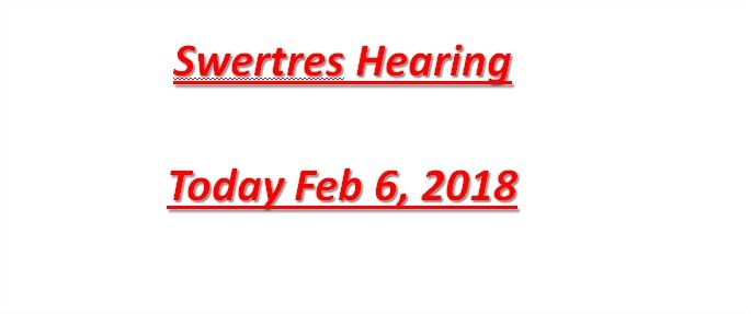 Swertres Hearing Today Feb 6, 2018  Swertres hearing today February 1 2018, probable numbers, maintaining numbers, Pasakay, Swertres analysis number, tricks, and tips. PCSO Swertres Lotto is the most popular lotto games in the Philippines because it is easy to win. unlike the other 6 numbers Lotto games.  We are giving Swertres hearing today February 6 2018 for free and tips plus strategies to help you to win swertres lotto.