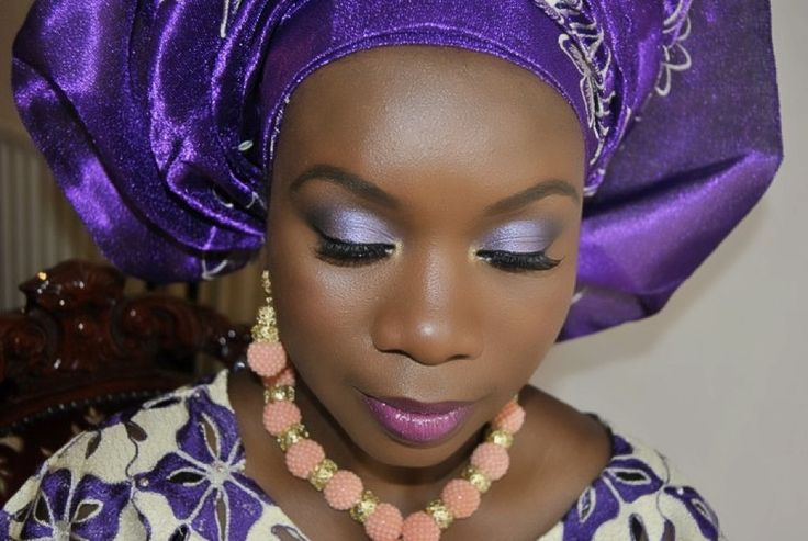 Traditional Wedding Makeup Pictures : traditional-african-nigerian-black-wedding-bridal-makeup ...