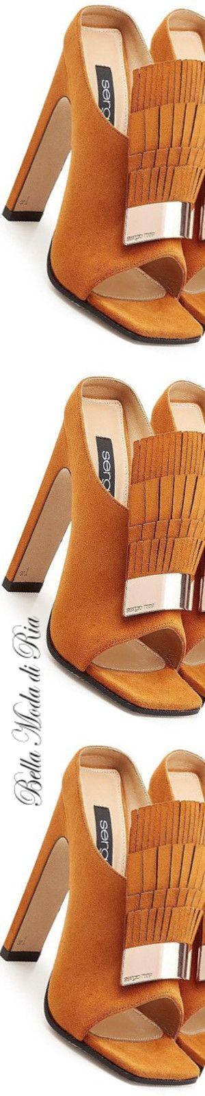 Sergio Rossi Suede Sandals with Fringe