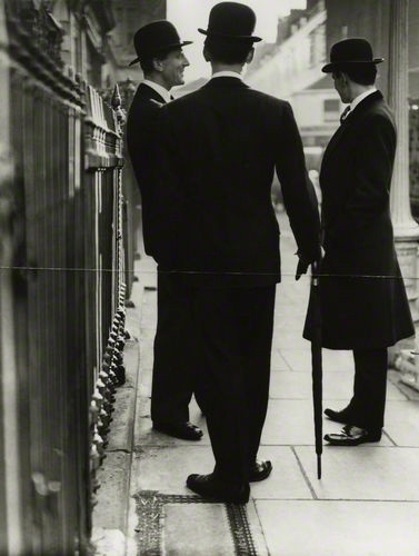 New Mayfair Edwardians / Norman Parkinson (1950)--but some men still dressed like this in 1963 when I first visited London.
