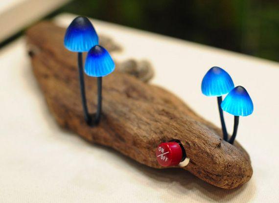 Glowy Magic Mushroom Desk Lamps