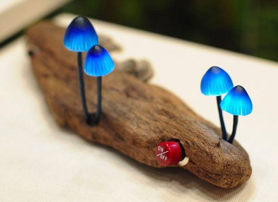 Glowy Magic Mushroom Desk Lamps