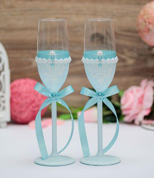 "Свадебные бокалы ""Blue Ice"""