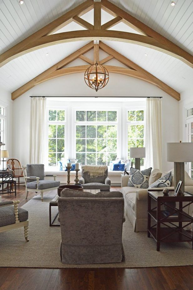 20 Vaulted Ceiling Ideas To Steal From Rustic To Futuristic Beams Living Room Ceiling Beams Living Room Vaulted Ceiling Bedroom