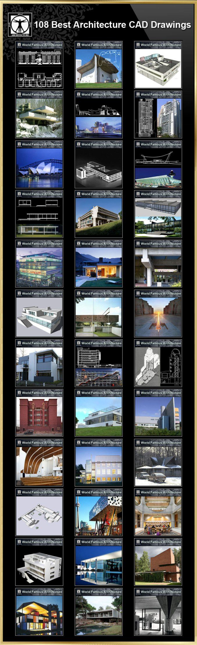 【108 Best Architecture CAD Drawings】(Best Collections!!) | Free Cad Blocks & Drawings Download Center