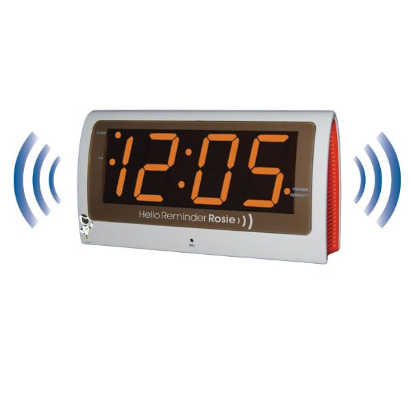 Never forget important appointments or medication reminders. Brand new to our MaxiAids store: The Reminder Rosie Talking Alarm Clock with Personalized Voice Reminders! It's the low-tech memory aid device that seniors and caregivers use #seniors #seniorcare #LaborDaySale