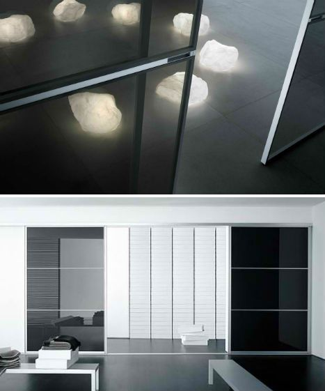 Italian design firm Rimadesio produces modern sliding door systems in a variety of finishes, to subdivide interior spaces while maintaining an open feel. Used in residential, office and retail applications, these door systems are custom-made to fit specific rooms. Visually lighter than more conv ...