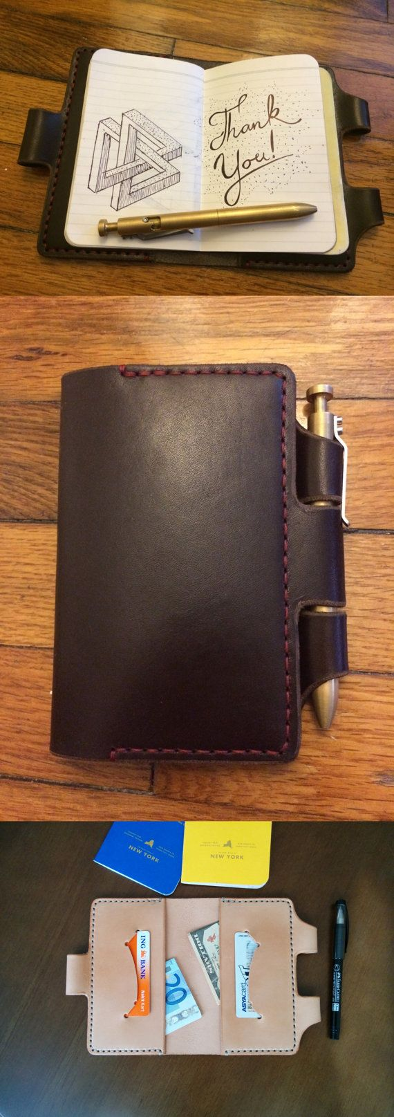 Field Notes and Moleskine Cover Field Notes Wallet by HandmadeEK