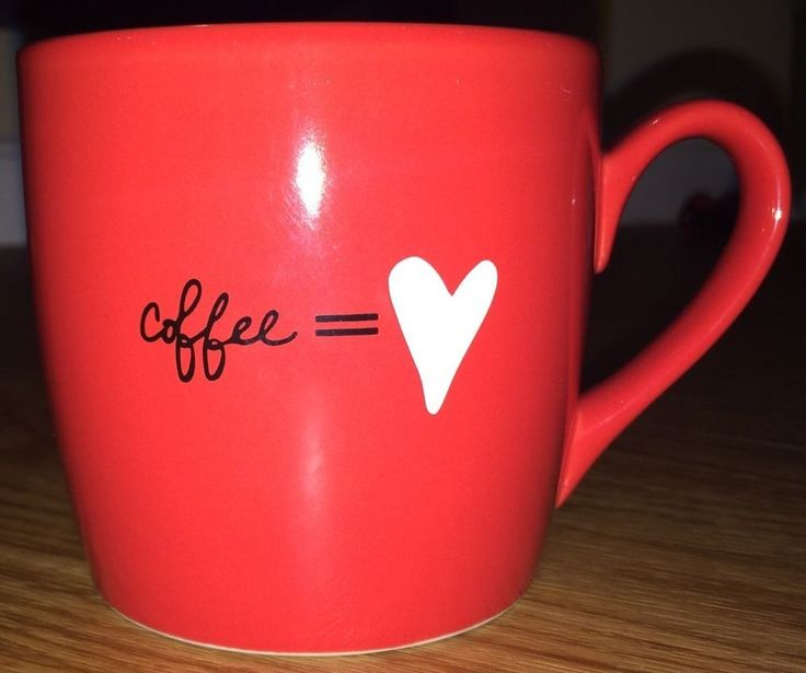 Starbucks Coffee U003d Heart Mug Tea 2011 Valentines 12 Oz Love Red Cup RARE