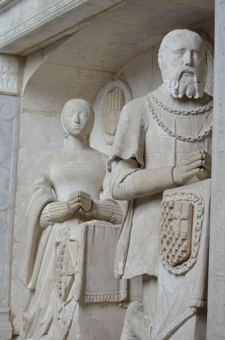 Church of St. Vincent de Paul, Folleville, France  Beautiful sculptures of worshippers