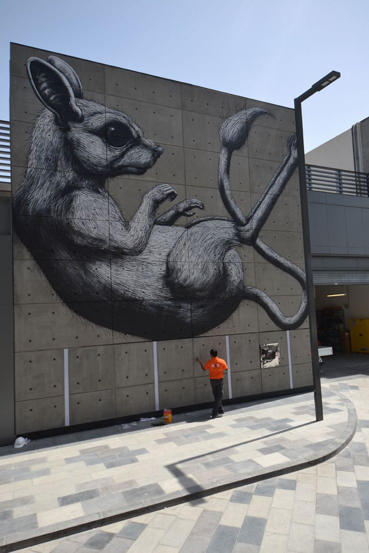 Graffiti wall uae - Roa For Dubai Walls Uae 2016 I World Of Urban Art Roa Belgium Pinterest Uae Urban Art And Street Art
