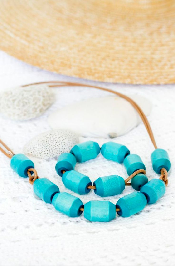 Tammi necklace and bracelet, turquoise - Aarikka