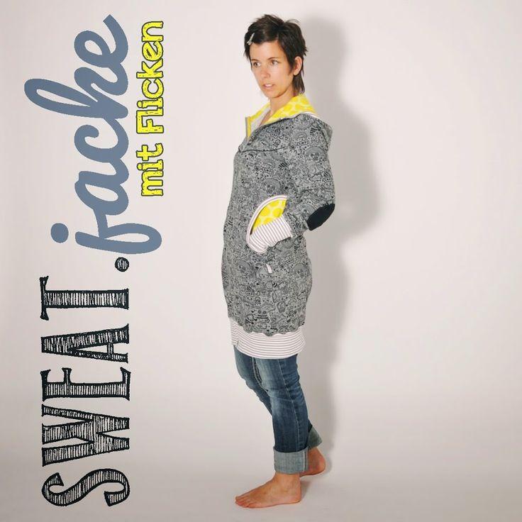 SWEATjacke • Nähanleitung + Schnittmuster • nähen • leni pepunkt • sewing pattern •zip sweat jacket