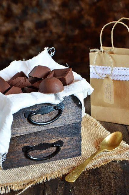 Bombones rellenos de nutella y pistacho