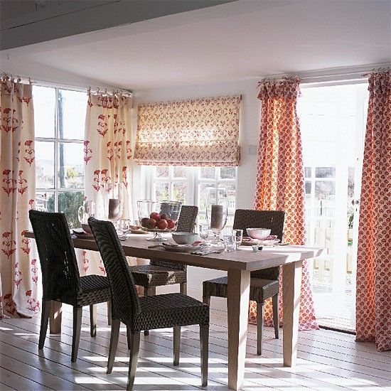 Block Printed Curtains From Les Indiennes Red Dining RoomsPrinted CurtainsMaster BedroomBritish ColonialIslandDecoration
