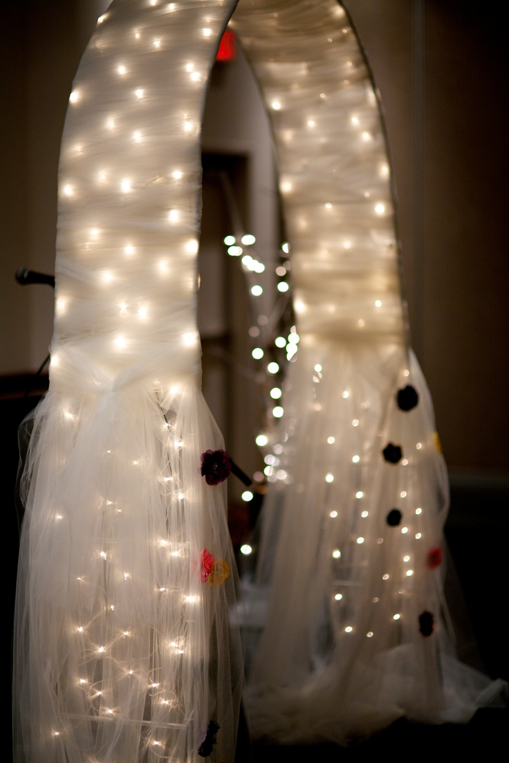 Wedding decorations tulle and lights   best Wedding ideas images on Pinterest  Weddings Bridal