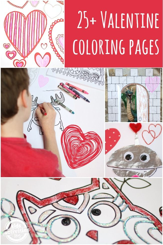 25 FREE Valentine Coloring Pages for Kids – Print and Play!