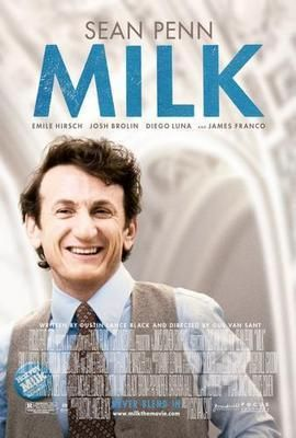 Milk Sean Penn Movie poster Metal Sign Wall Art 8in x 12in