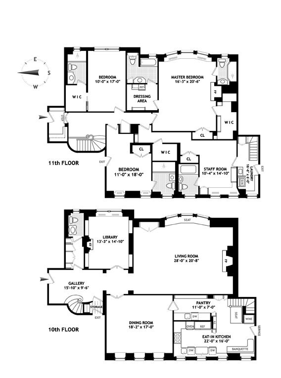 Luxury apartments nyc floor plans for Apartment floor plans nyc