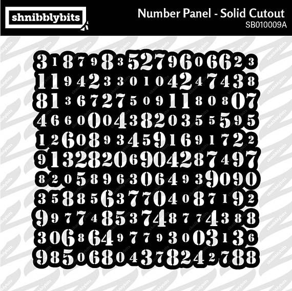 Number Panel Cutout