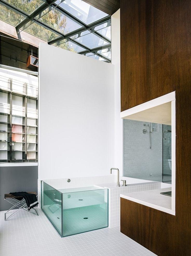 Clear glass bath
