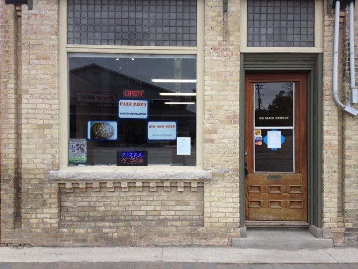 Patz Pizza, 56 Main Street, Tiverton, ON
