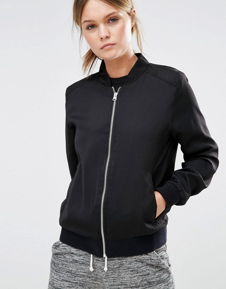 Image 3 of New Look Sateen Bomber