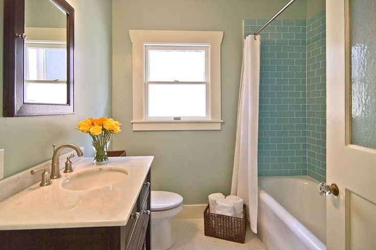 This is our exact existing wall color. Maybe the clean, simple subway tile will be more timeless.