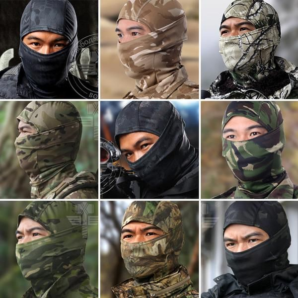 FuzWeb:Multicam Balaclava Realtree Camouflage Tactical Paintball Wargame Military Army Helmet Protection Full Face Mask