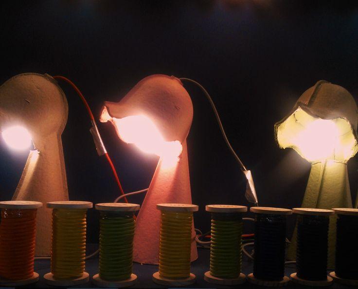 Egg of Columbus table lamps by Italian designer Valentina Carretta for Seletti - MDW 2015