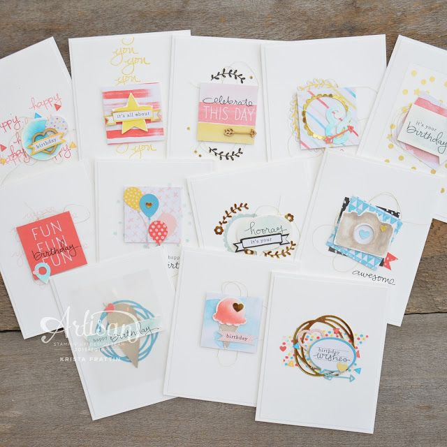 Stampin' Dolce: Dolce Spring Retreat - Birthday card stamp a stack using Project Life Memories in the Making
