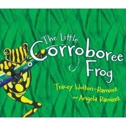 Australia - The little corroboree frog The Little Corroborree Frog gently introduces the serious plight of one of Australia's most endangered species. Jet the corroboree frog is happily taking care of the tadpole ponds when the water starts to dry up and his family's eggs are threatened. He goes to visit Grandmother Frog to find out why and she tells him about the summers that are getting hotter and the careless humans who are leaving their rubbish around.