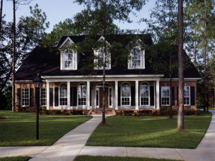 25 best ideas about plan front on pinterest diy front - Front porch designs for brick homes ...