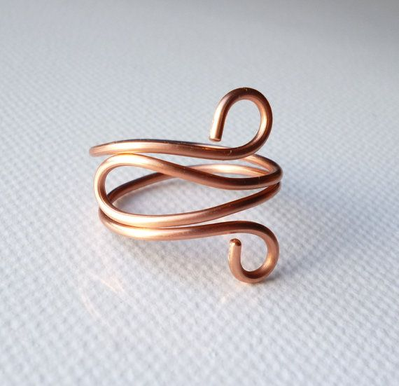 Copper ring Copper jewelry by SimplyWireWrapped on Etsy