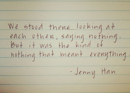 Jenny Han. This Silence Could Be A Good Or Bad Thing